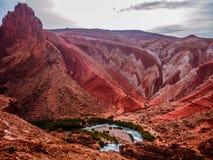 Dades狼吞虎咽谷,摩洛哥,非洲 库存图片