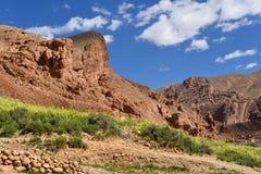 Dades谷风景,摩洛哥 免版税库存照片