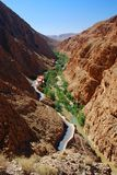 Dades Gorges. Morocco. Dadès Gorges is a gorge of the Dadès River and lies between the Atlas Mountains and Anti-Atlas mountain range, in Morocco Stock Photography