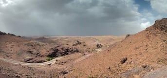 Dades klyftor, hög kartbok, Marocko, Afrika Vägsikt Royaltyfri Bild