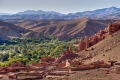 dades Valle Morocco wioski Zdjęcie Stock
