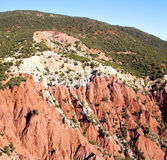 The    dades valley in atlas moroco africa ground tree  and nobo Stock Image