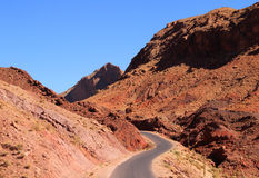 Dades Valley, Morocco. Morocco, Ouarzazate district, Boumaln Dades,  Dades Valley also known as Valley of the Roses, dangerous road surrounded by dramatical rock Royalty Free Stock Image
