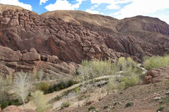 Dades valley river Stock Photography