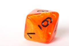 Dadi arancioni Fotografia Stock Libera da Diritti
