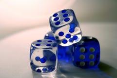 Dadi blu Fotografia Stock