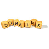 Dadi con i dominii immagini stock libere da diritti