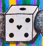 Dadi del graffit della via immagine stock libera da diritti
