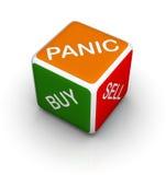 Dadi del mercato azionario Immagini Stock Libere da Diritti