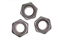 Dadi del metallo su bianco Fotografie Stock