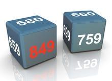 dadi del segno di accreditamento 3d illustrazione di stock