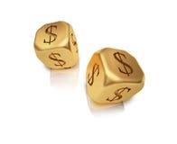 Dadi dell'oro Immagine Stock