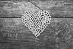 Dado come simbolo del cuore Immagine Stock