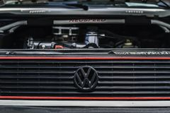 DADO TURBO DELLA GOMMA DELLA RUOTA DI VW Immagine Stock Libera da Diritti