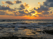 Dado Zamir Beach at Sunset Stock Photo