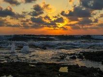 Dado Zamir Beach at Sunset Royalty Free Stock Photo
