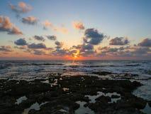 Dado Zamir Beach at Sunset Stock Photography