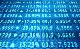 Dados abstratos do mercado de valores de ação Imagens de Stock Royalty Free