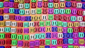 Dados abstratos em várias cores ilustração stock