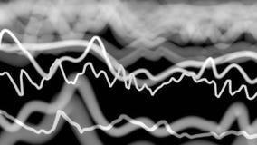 Dados abstratos que fluem em uma rede ilustração stock