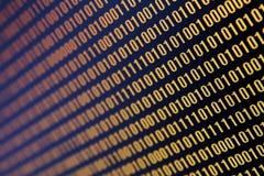 Dados binários Foto de Stock Royalty Free