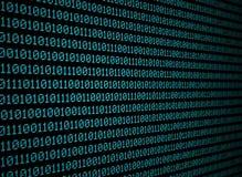 Dados binários dos azuis Foto de Stock Royalty Free