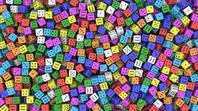 Dados coloreados Imagen de archivo