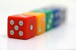Dados coloridos Fotografia de Stock