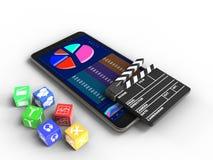 dados comerciais 3d Foto de Stock Royalty Free