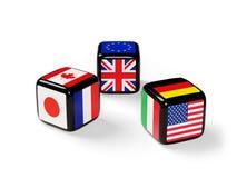 Dados con las banderas el G7 libre illustration