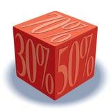 Dados con las muestras de porcentaje Foto de archivo libre de regalías
