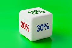 Dados con porcentaje Fotografía de archivo libre de regalías