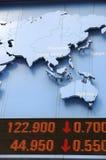 Dados conservados em estoque com mapa Imagens de Stock Royalty Free