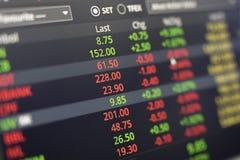 Dados conservados em estoque na tela Imagens de Stock