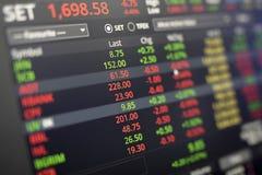 Dados conservados em estoque na tela Fotos de Stock Royalty Free
