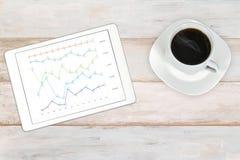 Dados da analítica do mercado de valores de ação fotografia de stock royalty free