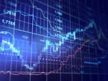 dados da finança Fotos de Stock