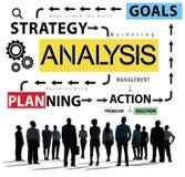 Dados da informação da análise que planeiam o conceito de Strategy Analytics ilustração stock