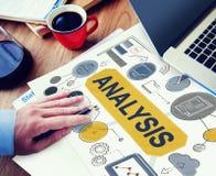Dados da informação da análise que planeiam o conceito de Strategy Analytics fotos de stock