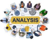 Dados da informação da análise que planeiam o conceito de Strategy Analytics foto de stock royalty free