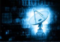 Dados da transmissão da antena parabólica Foto de Stock Royalty Free