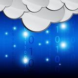 Dados de computação de transferência da nuvem Fotografia de Stock Royalty Free