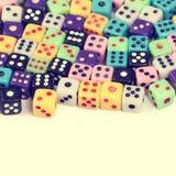 Dados de juego del casino imagen de archivo libre de regalías