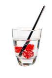 Dados de la bebida fresca Foto de archivo