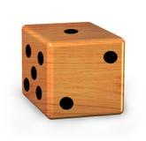 Dados de madeira Imagem de Stock Royalty Free