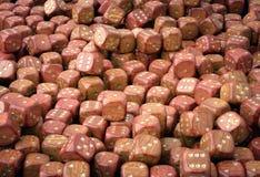 Dados de madeira Imagem de Stock
