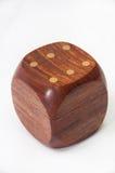 Dados de madeira com lados vazios para o texto Imagem de Stock Royalty Free