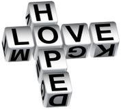 Dados del amor de la esperanza Fotografía de archivo libre de regalías