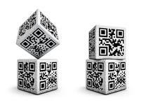 Dados del código de QR Imagen de archivo libre de regalías