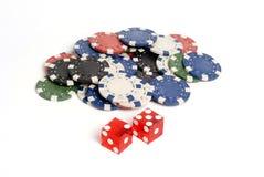 Dados del casino Fotografía de archivo libre de regalías